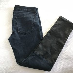 Rich & Skinny two tones faux leather skinny jeans